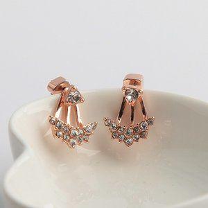 Kate Spade Rose Gold Suspended Gemstone Earrings